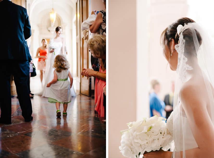 Braut vor der Trauung