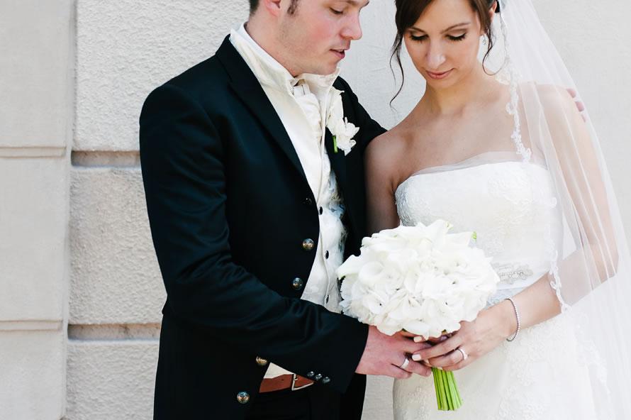 Brautpaar nach der Trauung