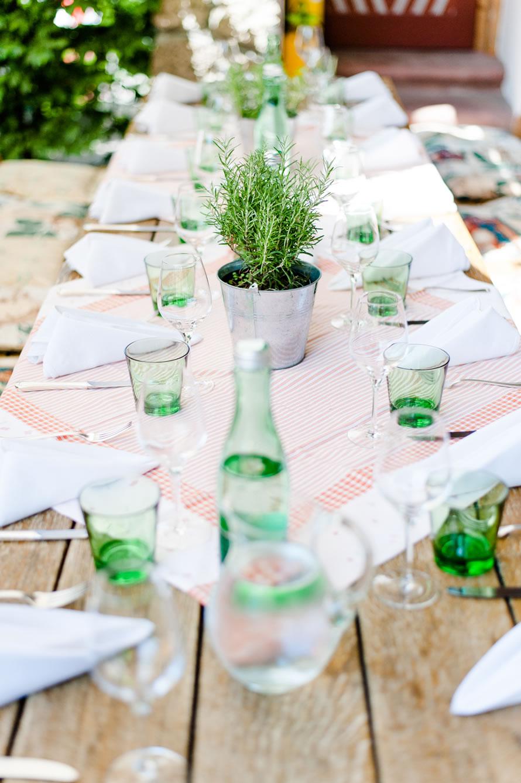 Tischdekoration der Hochzeit