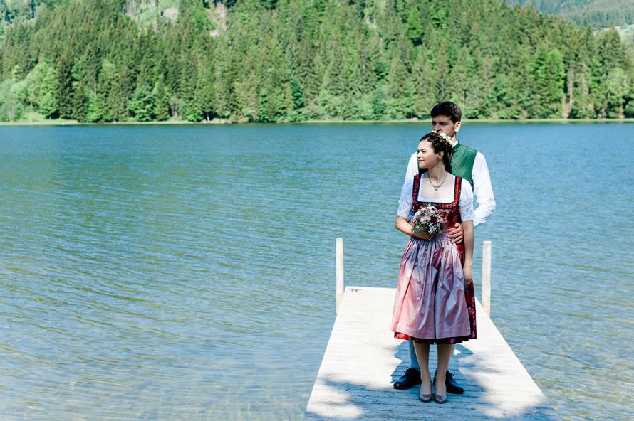 Brautpaar am Steg Spitzingsee
