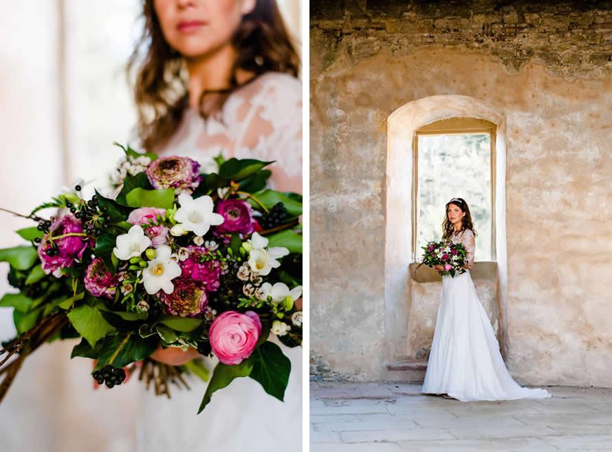 wundervoll üppiger Brautstrauß