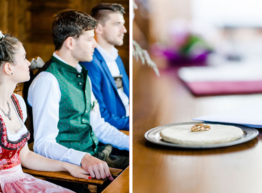 Brautpaar im Standesamt Schliersee bei der Trauung