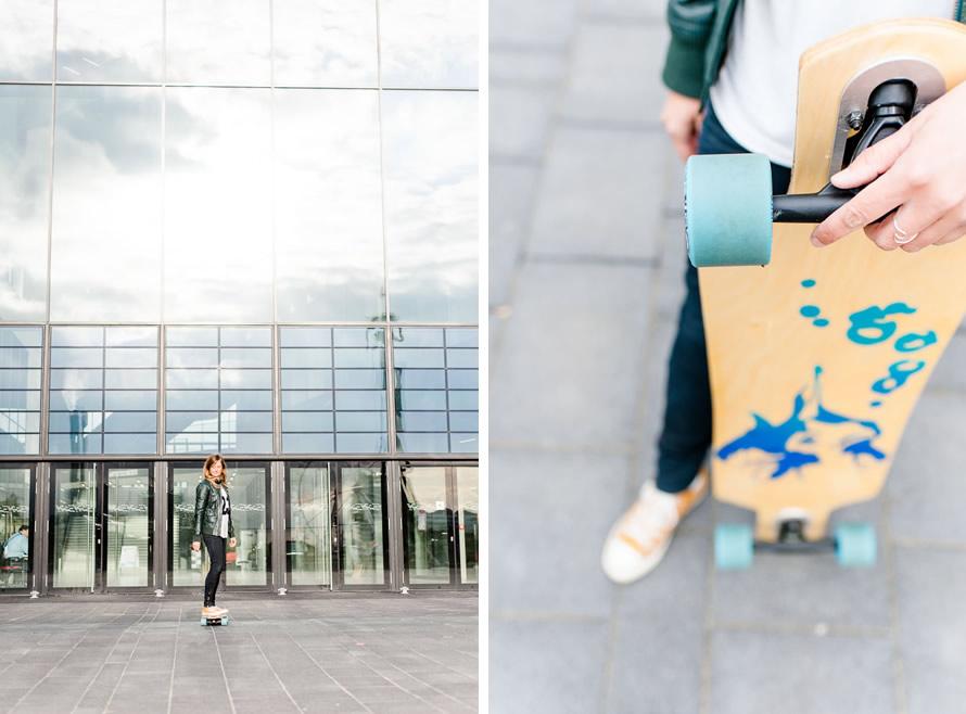 Katja auf dem Skateboard