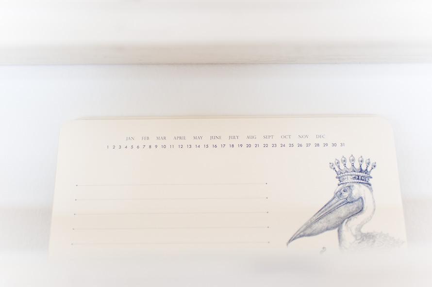 Detailfoto von einem Kalender