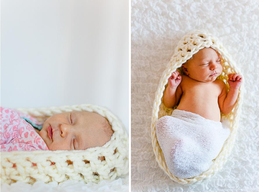 Neugeborenes im Kokon
