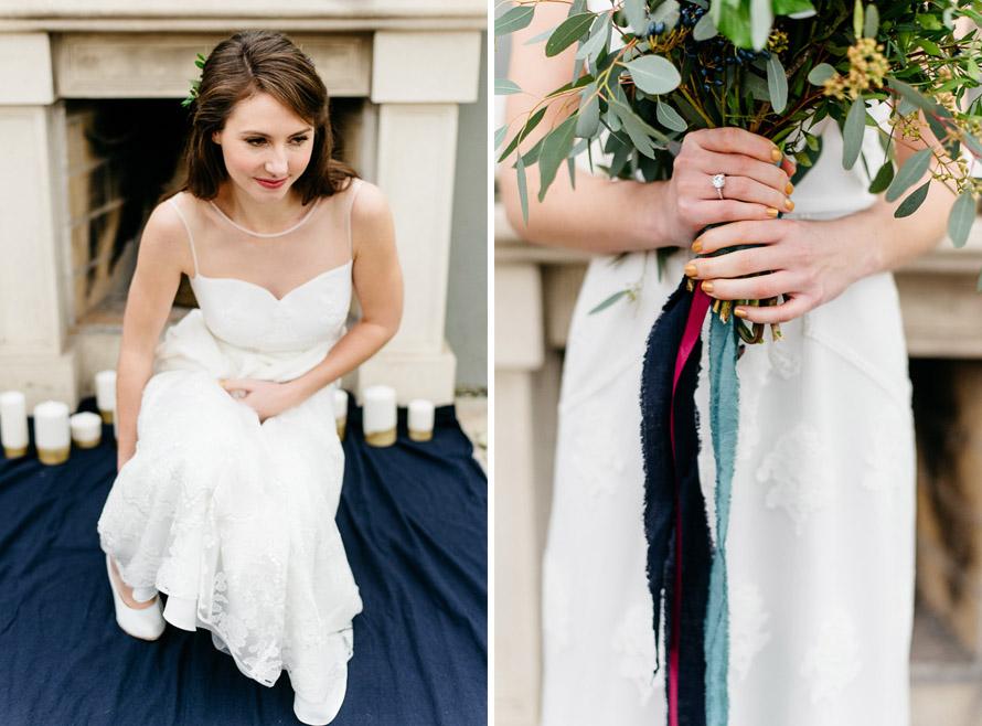 Braut mit Brautkleid Irene von Anna Kara